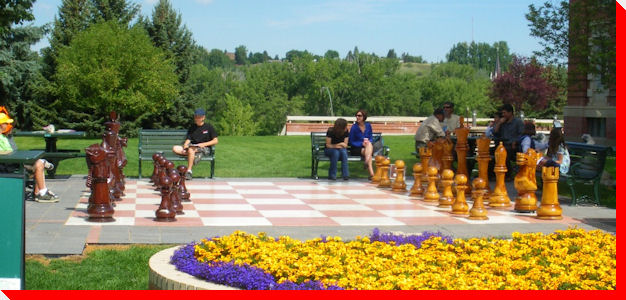 Large Outdoor Chess Set - Medicine Hat, Alberta