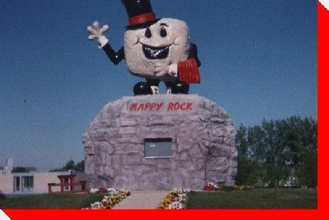 Happy Rock - Gladstone, Manitoba