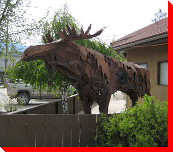 Rusty the Moose - Invermere, British Columbia