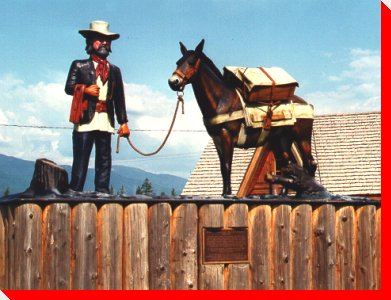 Prospector and Mule - New Hazelton, British Columbia