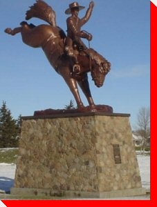 """The Legacy"" - The World's Largest Bucking Saddle Bronc and Rider - Ponoka, Alberta"