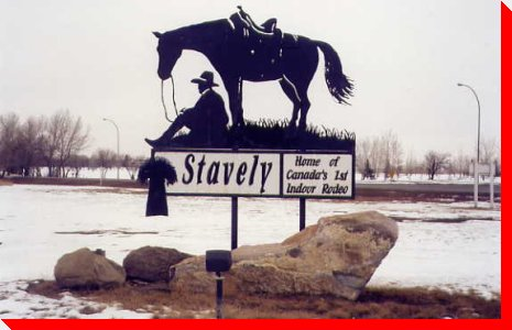 Cowboy and Horse - Stavely, Alberta
