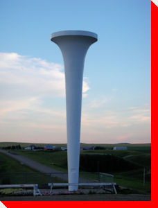 World's Largest Golf Tee - Trochu, Alberta